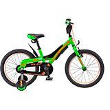 Двухколесный велосипед Stels Pilot-180 18 дюймов, зеленый/оранжевый