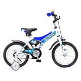 Двухколесный велосипед Stels Jet 14, белый/синий