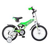 Двухколесный велосипед Stels Jet 14 дюймов, белый/салатовый
