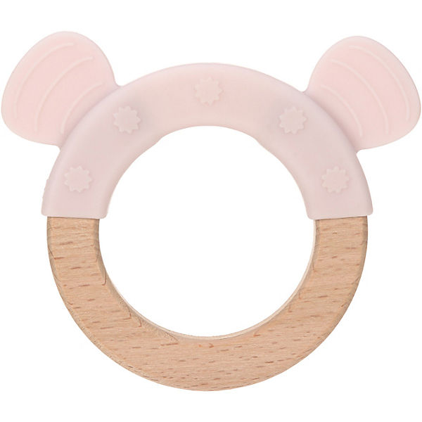 Greifling und Beißring, 2 in 1, Holz/Silikon, Little Chums Mouse