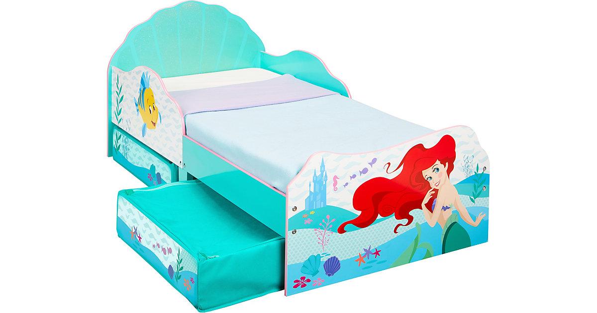Kinderbett mit 2 Ablageboxen, Disney Princess Ariel, 70 x 140 cm