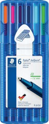 """Набор шариковых ручек Staedtler Triplus Ball """"Яркие цвета"""", XB, 6 цветов"""
