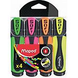 Набор маркеров-текстовыделителей Maped Fluo Pep's Ultra Soft, 4 цвета