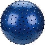 """Мяч с шипами Наша игрушка """"Фитнес"""", 55 см, синий"""