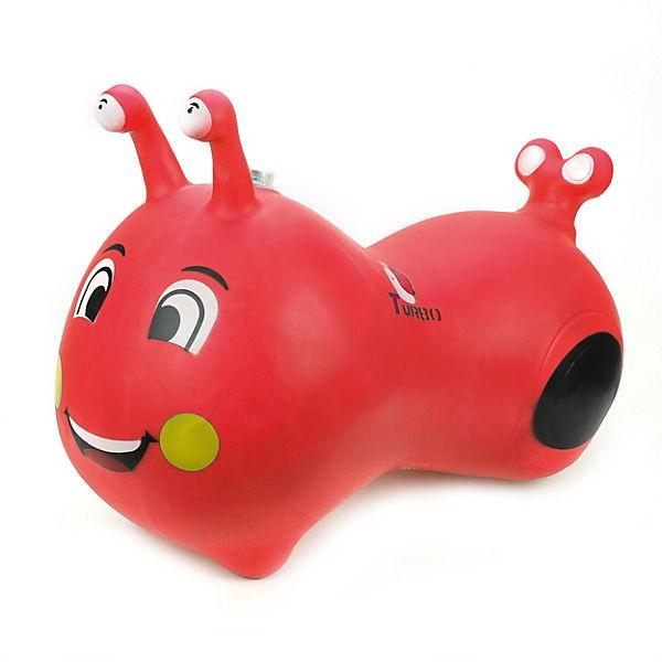 Гусеничка-попрыгунчик Наша игрушка, красная