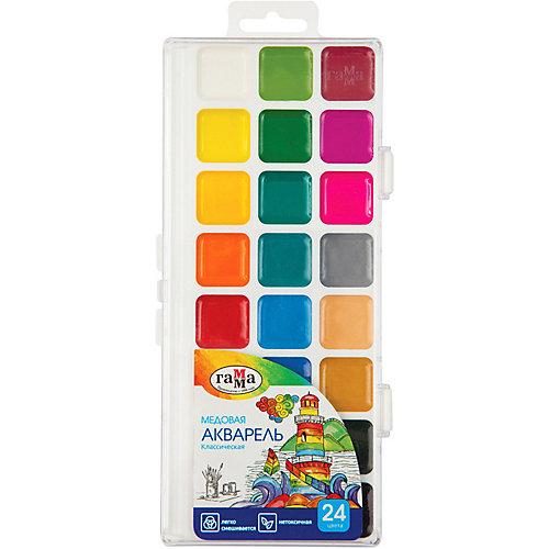 Акварель Гамма «Классическая», медовая, полусухая, 24 цвета от ГАММА
