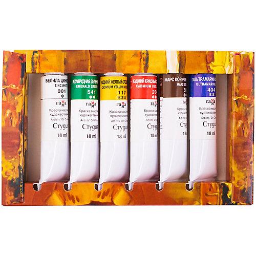 Краски масляные Гамма «Студия», 06 цветов от ГАММА