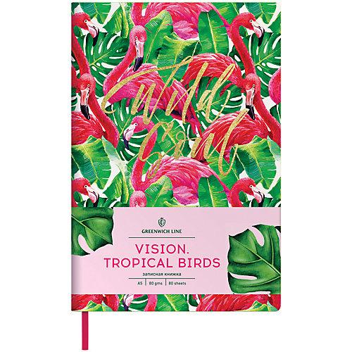 Записная книжка Лайт Greenwich Line Vision.Tropicalbirds, А5 от Greenwich Line