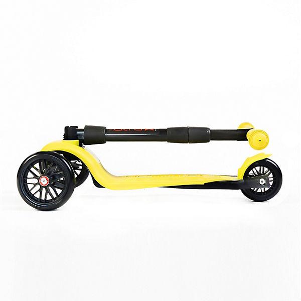 Трехколесный самокат Buggy Boom Alfa Model, лимонный