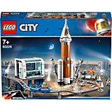 Конструктор LEGO City Space Port 60228: Ракета для запуска в далекий космос и пульт управления запуском