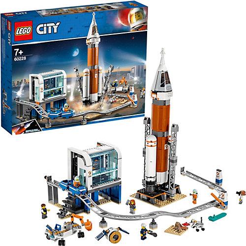 Конструктор LEGO City Space Port 60228: Ракета для запуска в далекий космос и пульт управления запуском от LEGO