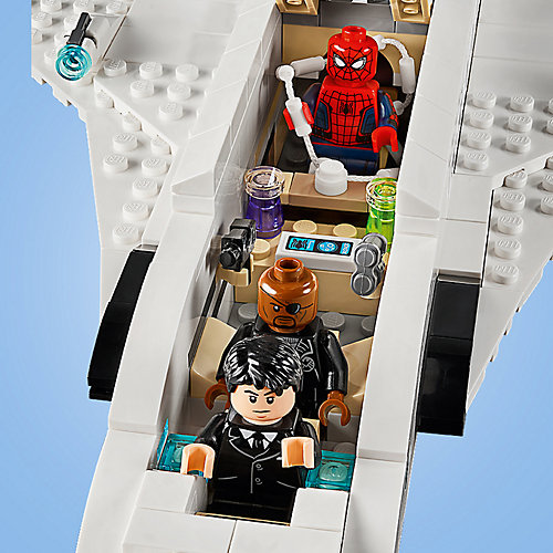 Конструктор LEGO Super Heroes 76130: Реактивный самолёта Старка и атака дрона от LEGO