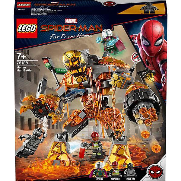 Конструктор LEGO Super Heroes 76128: Бой с Расплавленным Человеком