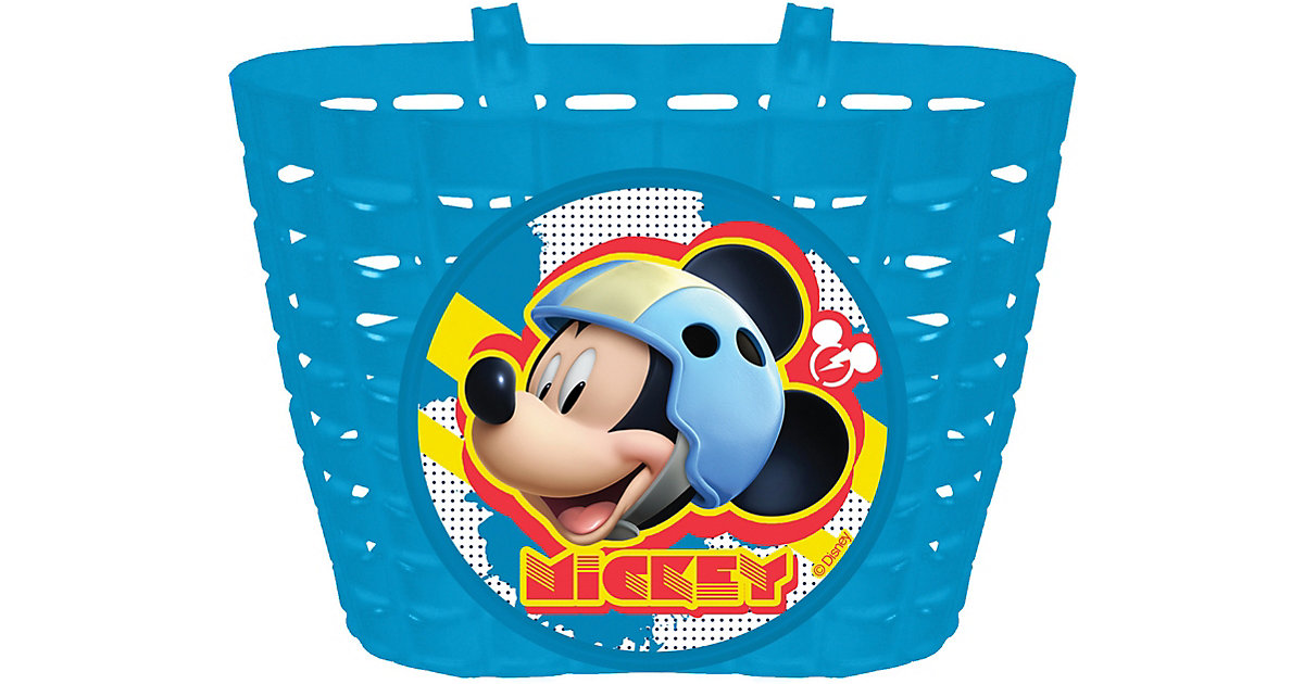 Fahrradkorb Mickey Mouse blau