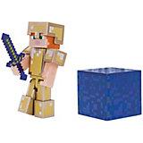 Игровая фигурка Jazwares Minecraft Alex in Gold Armor, 8 см