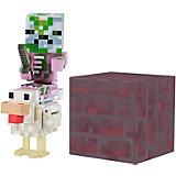 Набор фигурок Jazwares Minecraft Baby Zombie Pigman Jockey, 8 см