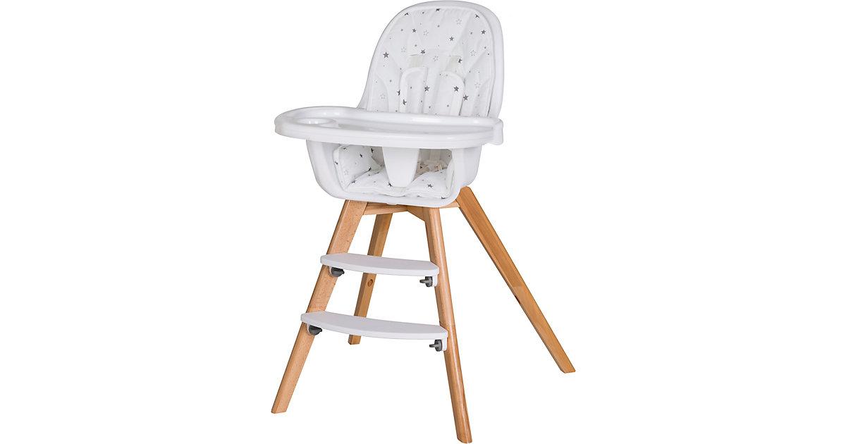 Hochstuhl Holly, inklusive Sitzkissen Sternchen grau weiß   Kinderzimmer > Kinderzimmerstühle > Hochstühle   Schardt