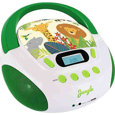 "CD-Player Boombox mit Radio/USB/SD ""Jungle"""