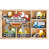 """Набор строительных машин Melissa & Doug """"Деревянные игрушки"""""""