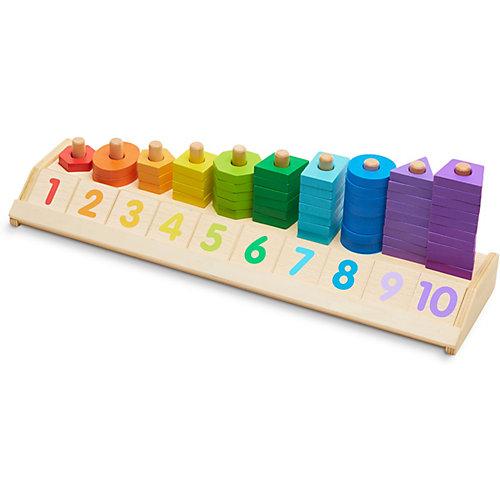 """Счеты Melissa & Doug """"Деревянные игрушки"""", Разложи по цветам"""