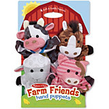 Плюшевые куклы на руку Melissa & Doug, Ферма