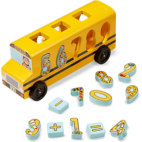 Сортер Melissa & Doug, Автобус-цифры от Melissa & Doug