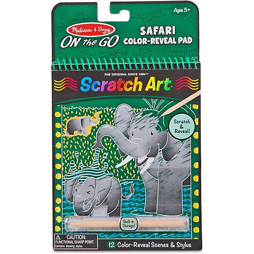 Блокнот Melissa & Doug Scratch art, Сафари от Melissa & Doug