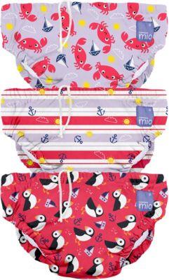 Schwimmwindel, rot, Gr. S, 0-6 Monate, 3er Packung, Bambino Mio
