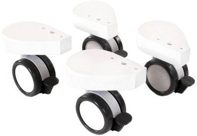 Drehstühle & -sessel Weiß Babybay Rollensatz Parkett Für Alle Modelle