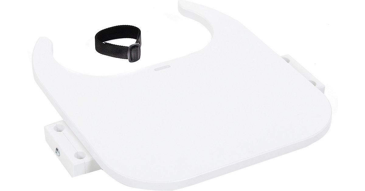 Tischplatte Hochstuhlumrüstsatz babybay Original, Maxi und Comfort, weiß lackiert  Kleinkinder