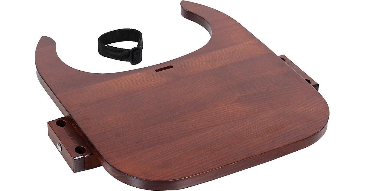 Tischplatte Hochstuhlumrüstsatz babybay Original, Maxi und Comfort, dunkelbraun lackiert  Kleinkinder