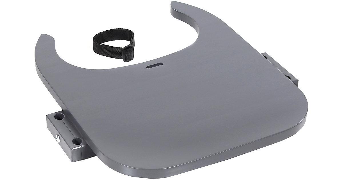 Tischplatte Hochstuhlumrüstsatz babybay Original, Maxi und Comfort, schiefergrau lackiert  Kleinkinder