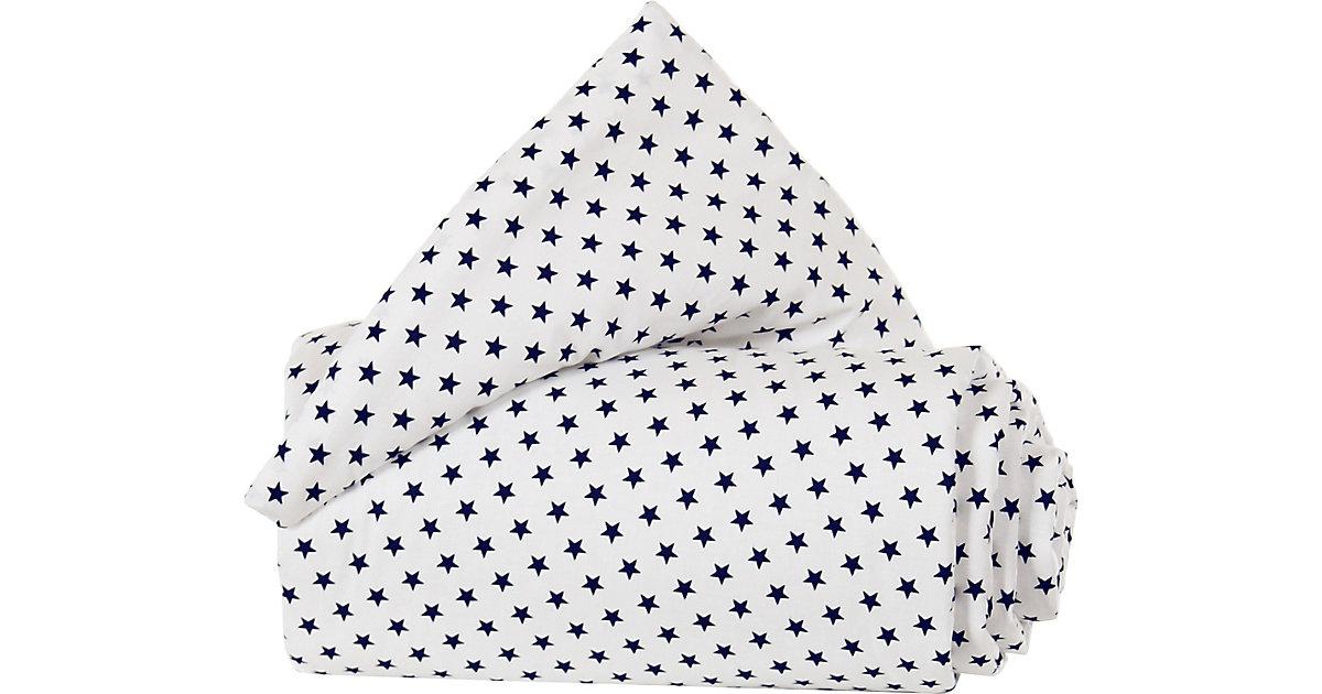 Gitterschutz Organic Cotton Verschlussgitter alle babybay Modelle, weiß Sterne blau blau/weiß  Kinder