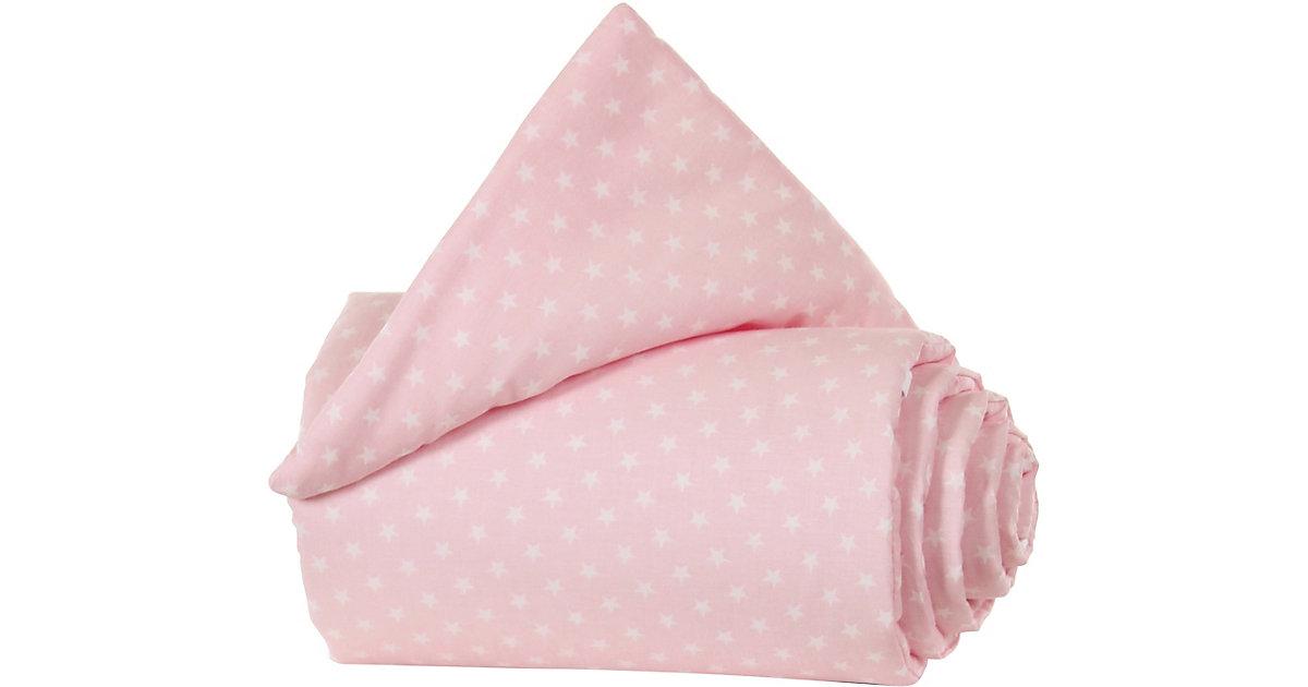 Gitterschutz Organic Cotton Verschlussgitter alle babybay Modelle, rose Sterne weiß rosa/weiß  Kinder