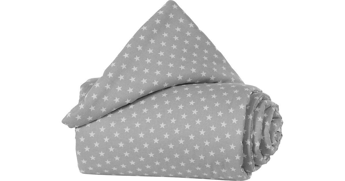 Gitterschutz Organic Cotton Verschlussgitter alle babybay Modelle, lichtgrau Sterne weiß hellgrau  Kinder