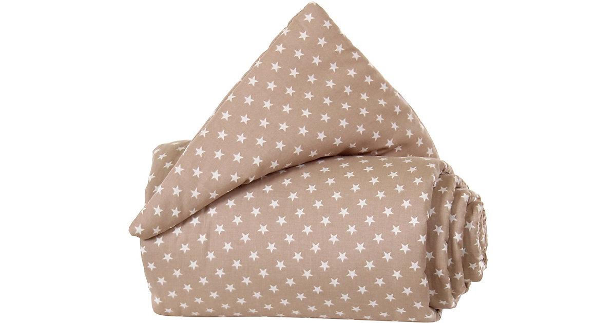 Gitterschutz Organic Cotton Verschlussgitter alle babybay Modelle, hellbraun Sterne weiß  Kinder
