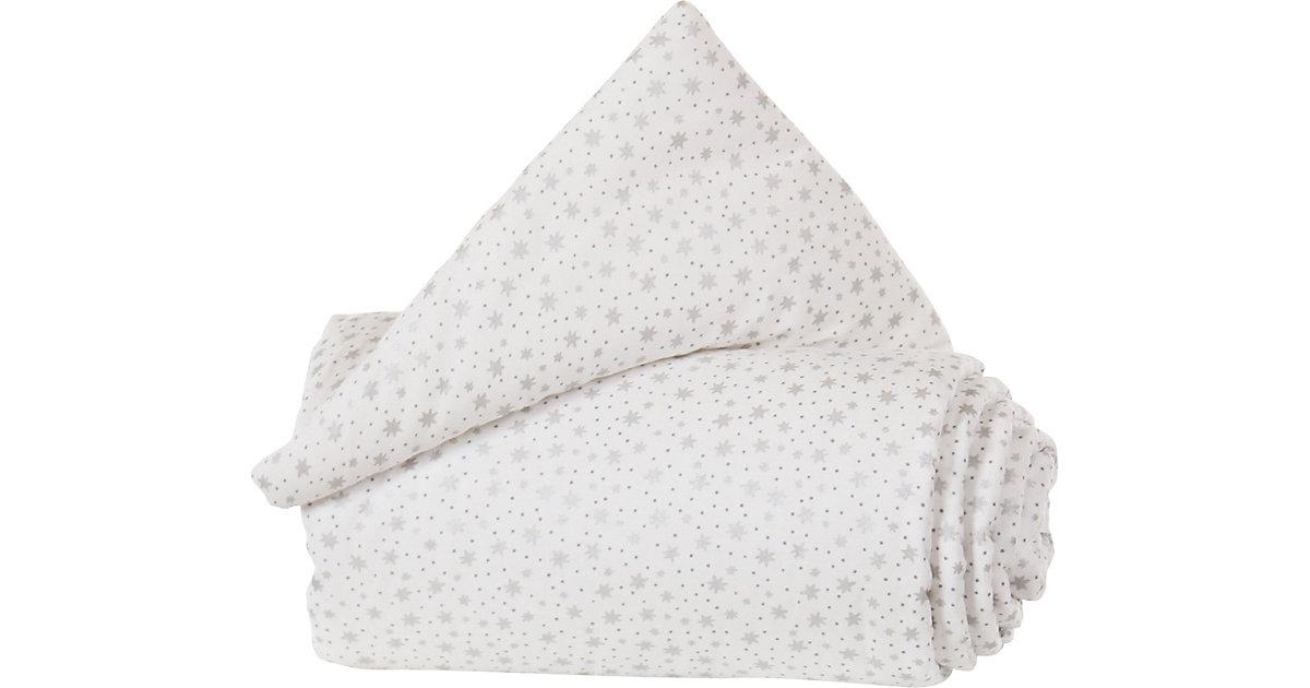 Gitterschutz Organic Cotton Verschlussgitter alle babybay Modelle, weiß Glitzersterne silber silber/weiß  Kinder