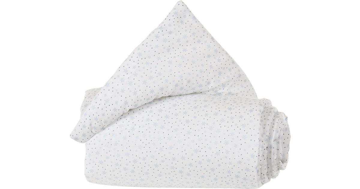Gitterschutz Organic Cotton Verschlussgitter alle babybay Modelle, weiß Glitzersterne diamantblau  Kinder
