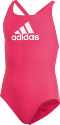 adidas Performance Kinder Mädchen Badeanzug Schwimmanzug Pink farbige Streifen