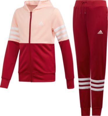 Trainingsanzug YG HOOD PES TS für Mädchen, adidas Performance