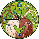Витражные часы Color KIT Золотые олени