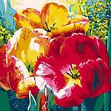 Открытка по номерам Color KIT Нежные тюльпаны