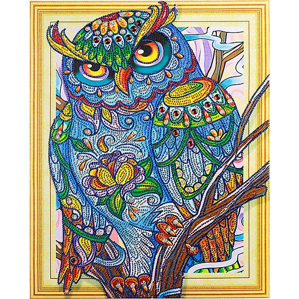 Алмазная картина Color KIT Мудрая сова, с фигурными стразами