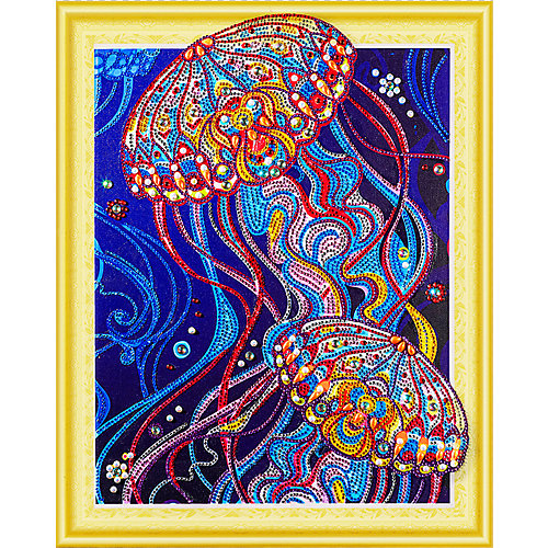 Алмазная картина Color KIT Сокровища океана, с фигурными стразами от Color KIT