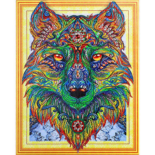 Алмазная картина Color KIT Изумрудный волк, с фигурными стразами