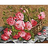 Картина по номерам Color KIT Корзина роз