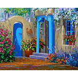 Картина по номерам Color KIT Цветущий дворик