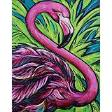 Картина по номерам Color KIT Розовый фламинго
