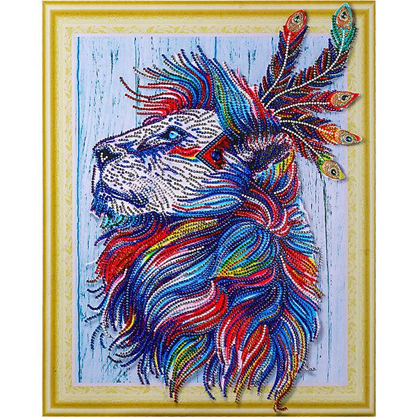 Алмазная картина Color KIT Алмазный лев, с фигурными стразами