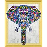 Алмазная картина Color KIT Индийский слон, с фигурными стразами